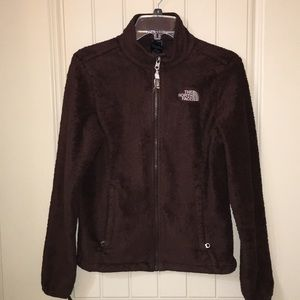 Women's The North Face brown fleece zip jacket S